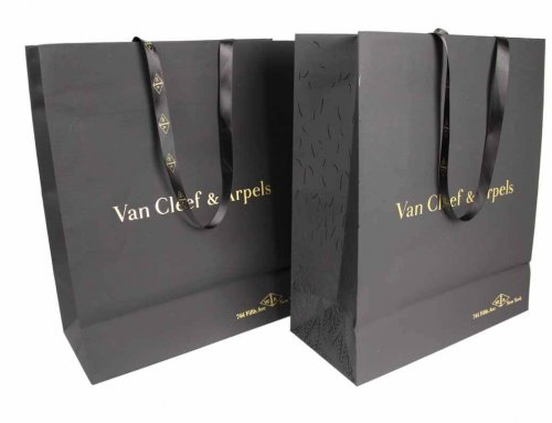 Van Cleef & Arpels soft touch paper box and bag