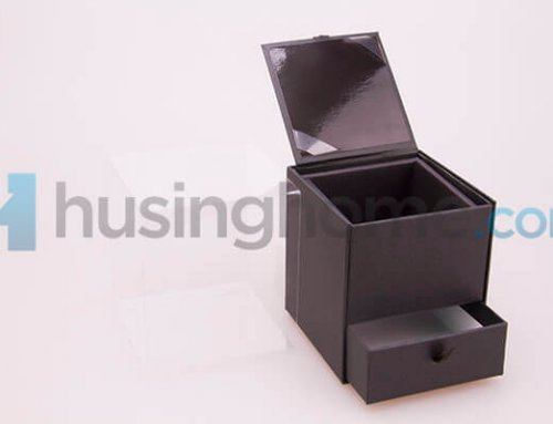 Black Paper Box with Drawer