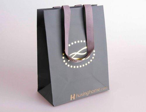 Elizabeth Lock Shopping Bag With Ribbon